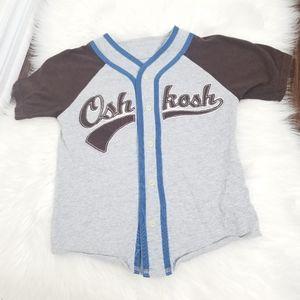 2/10$🎆OshKosh Kid Baseball Short Sleeve Tee Shirt